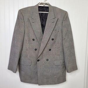 burberrys' Houndstooth Plaid Sports Coat Jacket